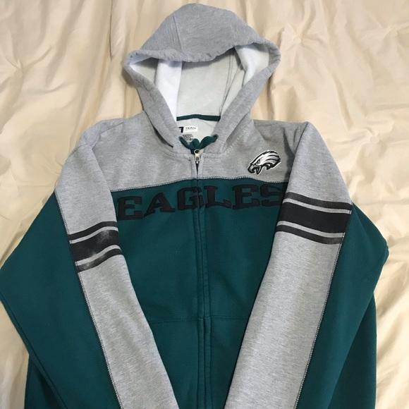 timeless design 48b1f 52c0c 🦅Men's Philadelphia Eagles Zip-up Hoodie🦅